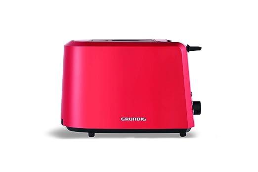 Grundig TA 4620 R Tostadora Rojo, 850 W, 7 grados Ajuste de ...