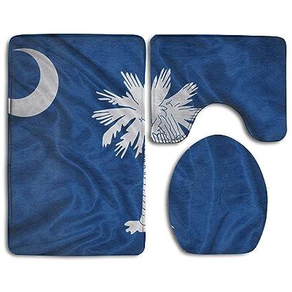 Amazon com: Liliynice Bathroom Bug Mat Set South Carolina Flag