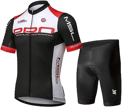 Mysenlan Hombre Jersey de Ciclismo Maillot Ropa Manga Corta para Bicicleta Verano Cycling Conjunto con Pantalones Cortos: Amazon.es: Deportes y aire libre