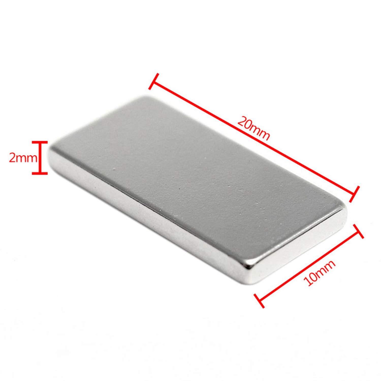 Lopbinte Magneti A Magneti Al Neodimio N50 Da 10 Pezzi Magneti A Terre Rare Super Potenti 20x10x2mm