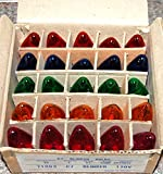 C-7 Multi-color Clear Twinkle Bulbs Brand New 1 Box of 25 C7 Multi Color Twinkle Bulbs