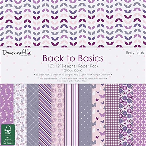trimcraft-dovecraft-back-to-basics-paper-pack-36-per-pack-12-x-12-berry-blush