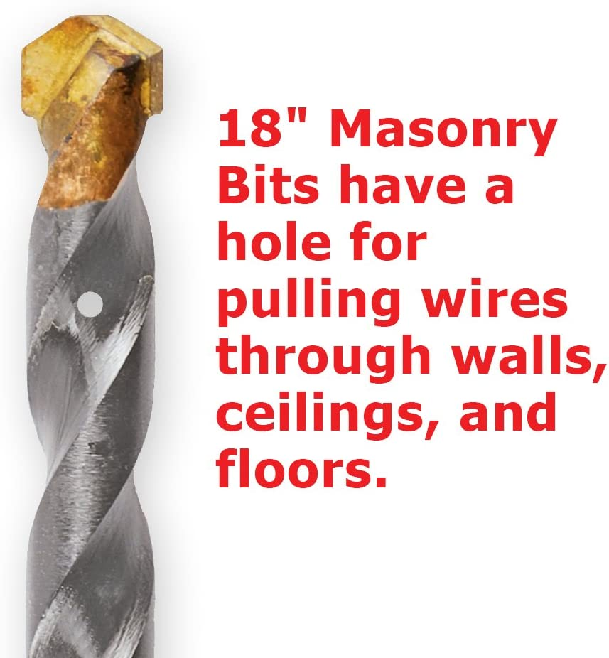 3//8-Inch Reduced Shank 1//Card IVY Classic 10240 5//8 x 6-Inch Premium Carbide Masonry Drill Bit