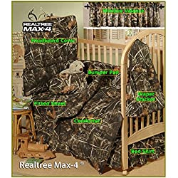 Realtree Max-4 Camo 7 Piece Baby Crib Set - Gift Set, Save By Bundling!