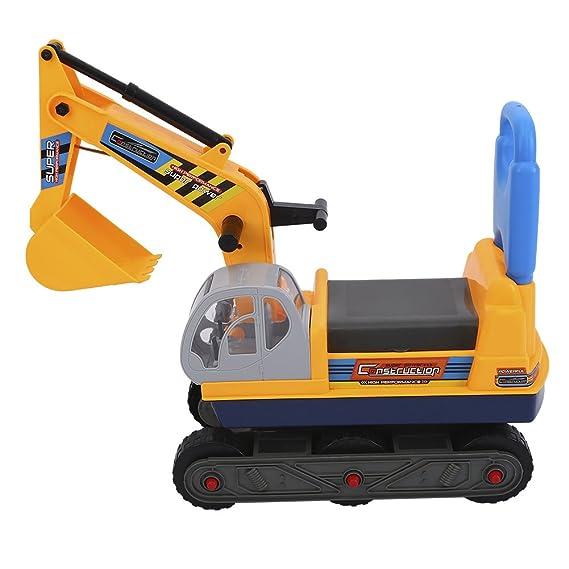 Zerone Kinder Bagger, Stabiler und Robuster Sitzbagger Kinderspielzeug Bagger LKW Spielzeug für Kinder aus Kunststoff für Den