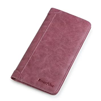 ... Slim Lady Hand Bag Leather Purse Paquete de teléfono móvil de Alta Capacidad Más Pantallas Compras Carteras de Embrague para Damas: Amazon.es: Hogar