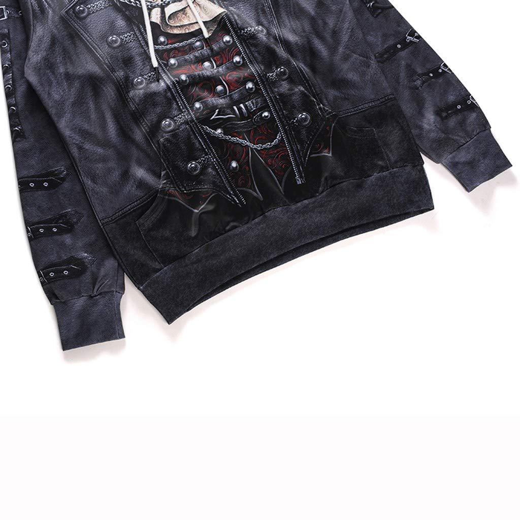 GLVSZ Hoodies 3D Print Horror Movie Clown Pullover Sweatshirt for Men with Pocket