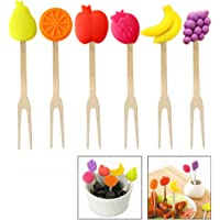 Xrten 6 Pcs Mini Tenedor de Fruta
