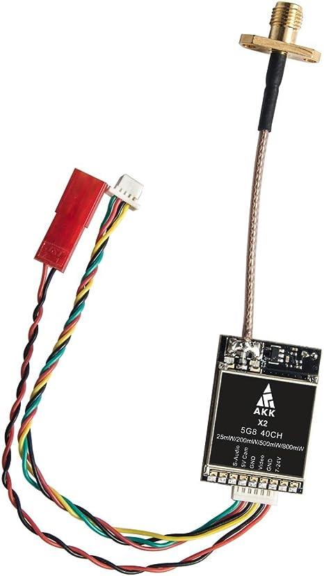 AKK X2M 5.8Ghz 40CH 0.01mW//25mW//200mW//500mW//800mW Switchable FPV VTX with MMCX