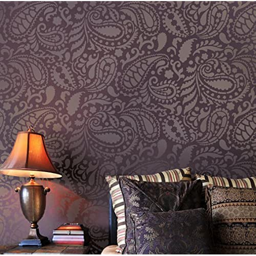 Paisley allover stencil pattern reusable stencils for diy decor