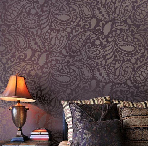 Paisley Allover Stencil Pattern - Reusable stencils for decor