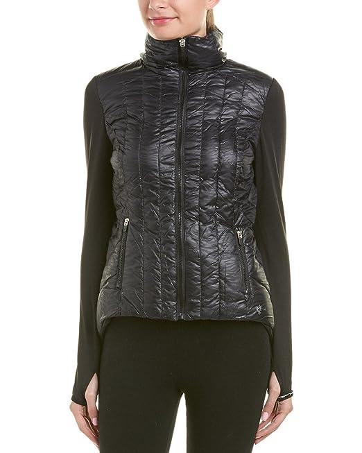Betsey Johnson Betsey Johnson Womens impreso acolchado tama?o de la chaqueta del soplador: Amazon.es: Ropa y accesorios