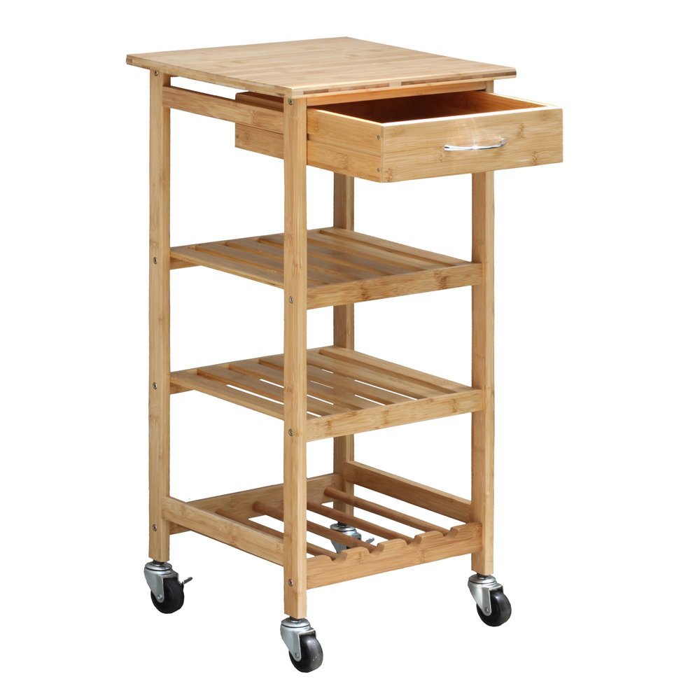 Oceanstar Design Group Bamboo Kitchen Trolley by Oceanstar (Image #3)