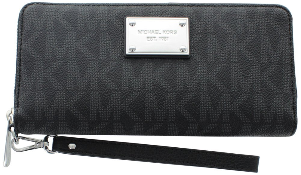 MICHAEL Michael Kors Jet Set Travel Logo Continental Wallet (Black)