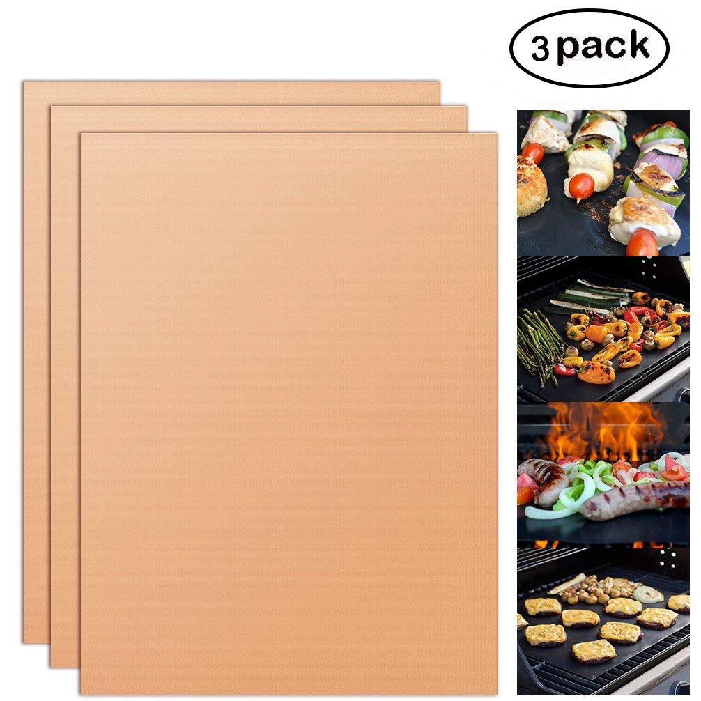 YORLFE Non-Stick Heavy Duty Oven Liners(3-Piece Set)-Thick,Heat Resistant Fiberglass Mat-Easy to Clean-Reduce Spills, Stuck Foods and Clean Up-Kitchen Friendly Cooking Accessory,FDA Approved