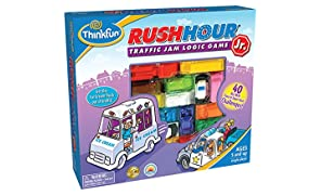 Think Fun Rush Hour Junior Traffic Jam Logic Game and STEM Toy for Boys and Girls Age 5 and Up - Junior Version of the International Rush Hour
