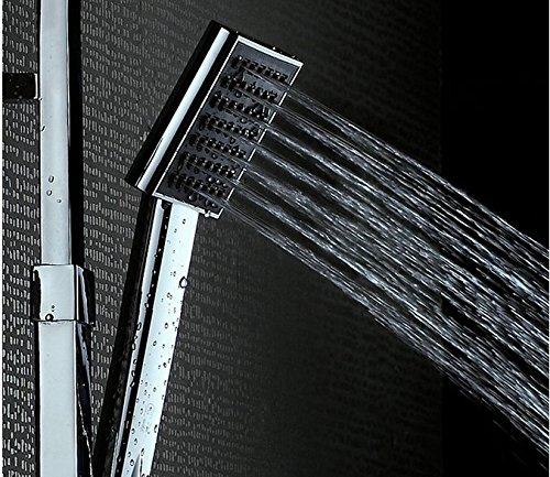 GOWE Double shower head mixer shower set 8 inch brass chrome bathroom Shower Set Square Bathroom Shower Column Faucet Mixer 1