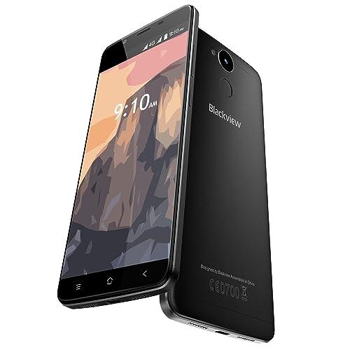 Blackview P2 Lite - 6000mAh Smartphone 4G 5.5'' FHD (Android 7.0, fotocamera 13 MP + 8 MP, 32GB ROM+3GB RAM, MTK6753 Octa-Core, OTG, lettore impronte digitali), nero