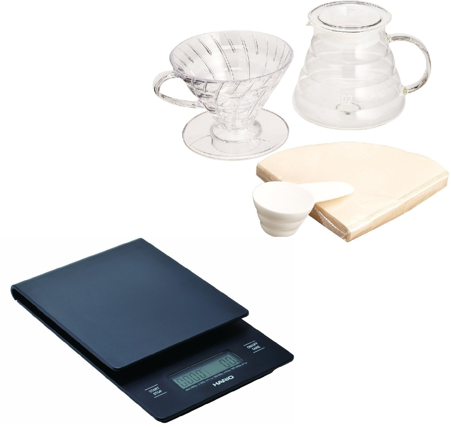 New Hario V60 Set Scale Brewing Vst 2000b Vdst Drip 02t From Japan Teapots
