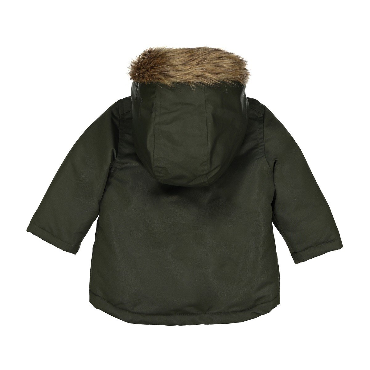 3 Months-3 Years La Redoute Collections Big Boys Parka with Faux Fur Hood