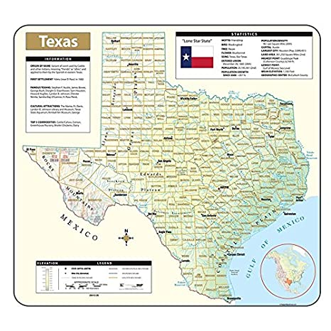 Relief Map Of Texas.Amazon Com Shaded Relief Map Rolled Texas Office Products