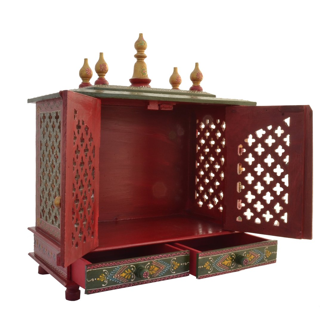 Buy Wooden Temple/ Home Temple/ Pooja Mandir/ Pooja Mandap/ Temple For Home  With White Light Online At Low Prices In India   Amazon.in