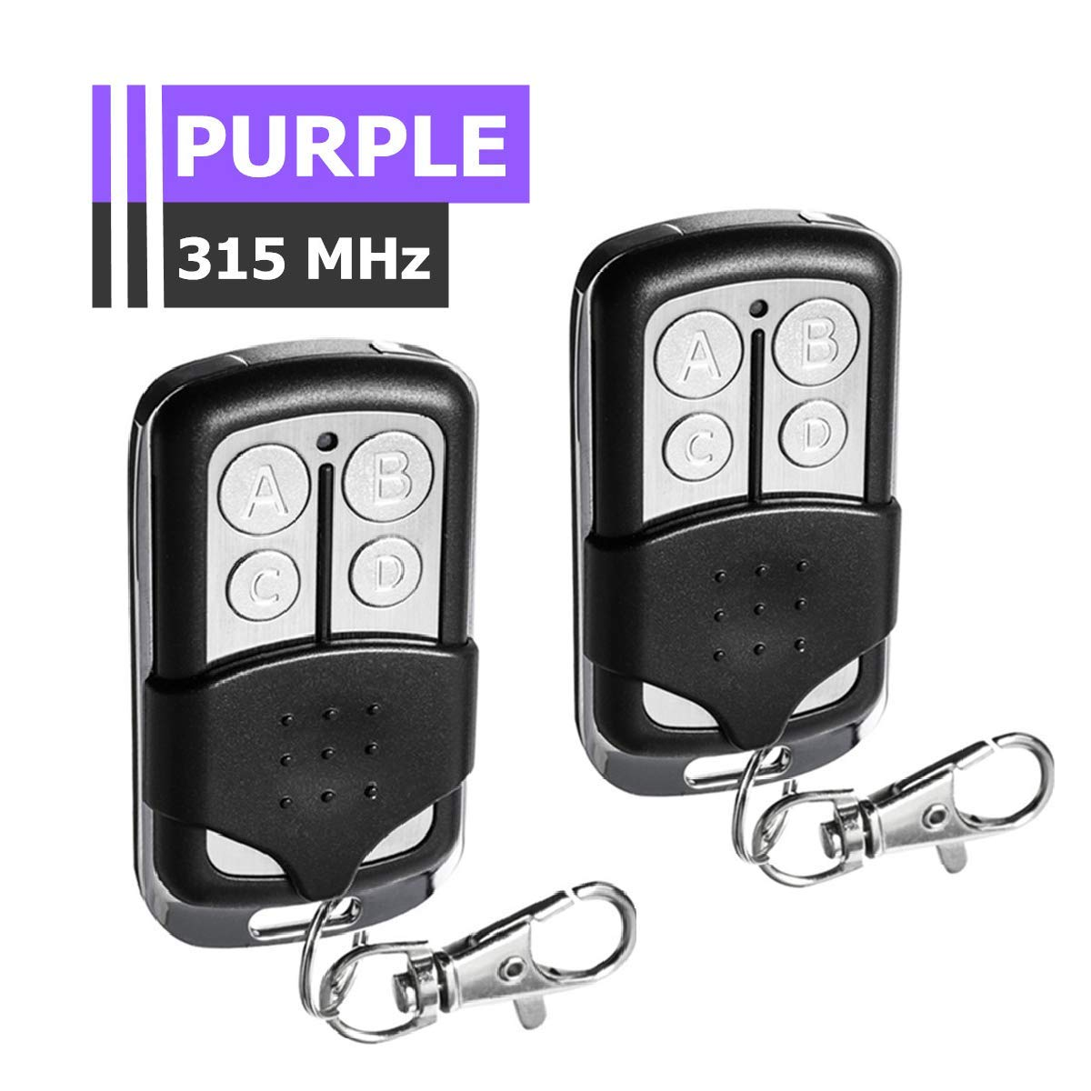 INSMA 315MHz Garage Door Remote Control, Replacement Remote for Garage Door Openers with Purple Learn Button, Compatible with LiftMaster 370LM-373LM, Chamberlain 950D 953D 956D, Craftsman 139.537