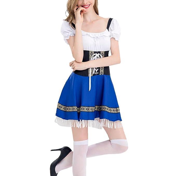 YOGLY Vestido Largo Mujer de Fiesta para Boda Noche Vestido Encaje un Hombro de Manga Larga