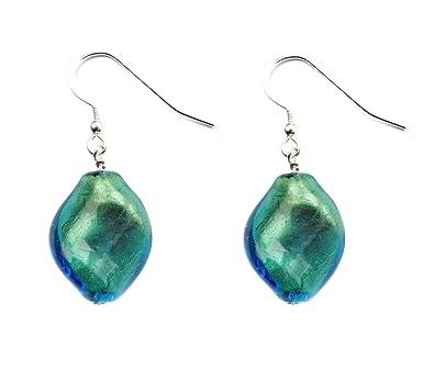 Amanti Venezia Cobalt Blue Murano Glass Stud Earrings 2rgmDdFR