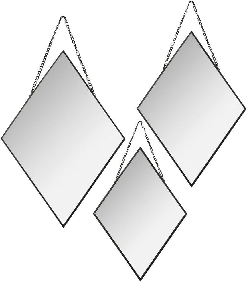 Specchi Da Cornice Specchi Moderni Specchi Da Parete Specchi Da Appendere Atmosphera Set Di 3 Specchi Decorativi A Forma Di Rombo Specchietti Decorativi Specchi Da Parete Ingresso Bepco Ee