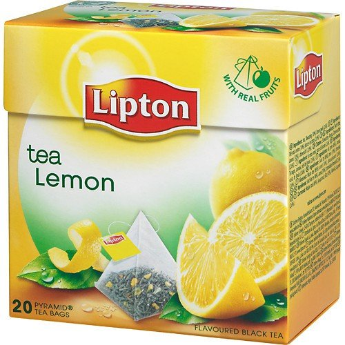 Lipton Black Tea - Lemon - Premium Pyramid - Lipton Premium Tea Bags