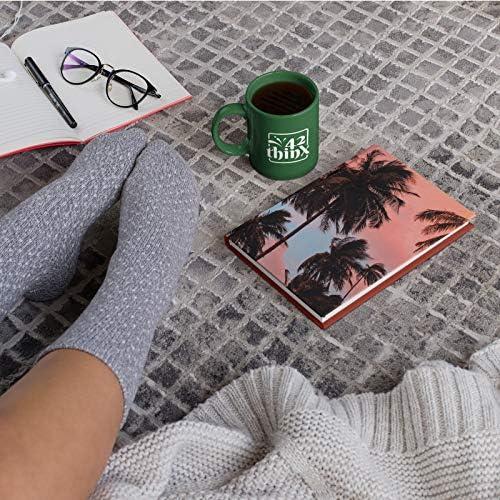 42thinx Notizbuch Sonnenuntergang Palmen DIN A5 blanko I Notizblock mit Hardcover 128 Seiten mit Designcover I Hochwertiges Journal Notebook mit Lesezeichen I Notizblock gebunden Motiv