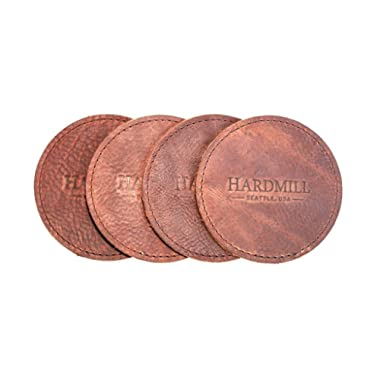 Leather Coasters - Set of 4 - Made in USA