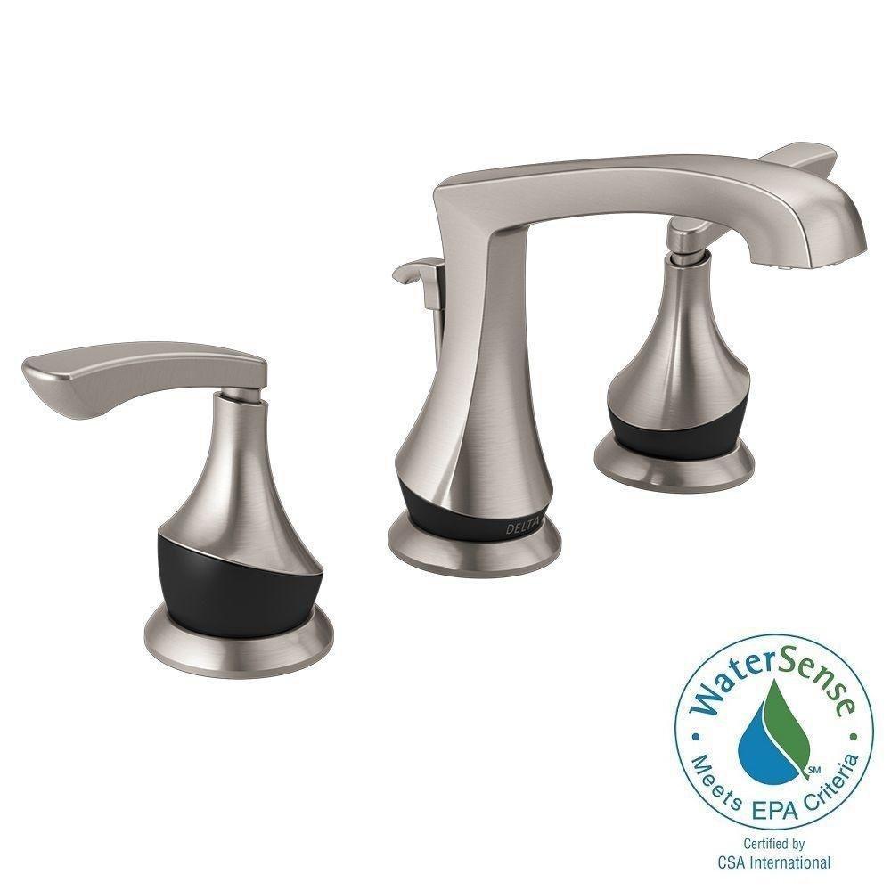Amazon.com: Delta Merge 4 in. Centerset 2-Handle Bathroom Faucet ...
