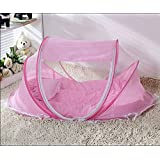 MLF-Baby Foldable Mosquito Net Free Installation,Pink,110*65*60cm