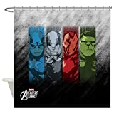 CafePress Four Avengers Decorative Fabric Shower Curtain (69''x70'')