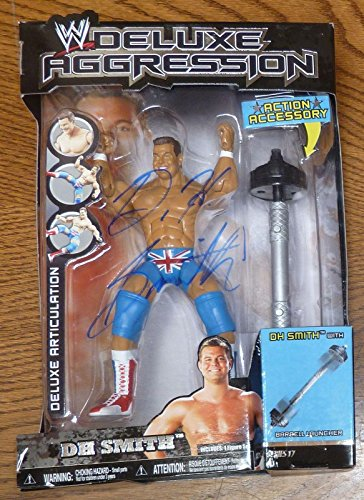 DH David Hart Smith Signed Jakks WWE Deluxe Aggression Figure COA Auto'd - PSA/DNA Certified - Autographed Wrestling Photos