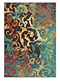 Orian Watercolor Scroll Area Rug, Multi-Color, 5'3″ x 7'6″ Review