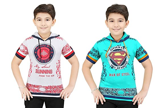 bluntly colour kids boys t shirts with hood pack of 2pc - Pictures To Colour For Boys