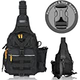 BLISSWILL Fishing Backpack Outdoor Tackle Bag Large Fishing Tackle Bag Water-Resistant Fishing Backpack with Rod Holder…