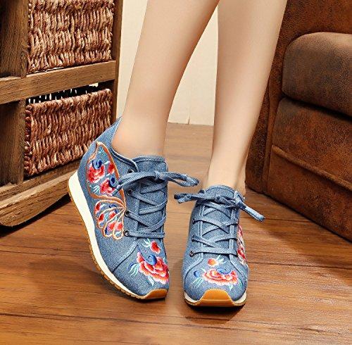 Geom Bordados Tela de Zapatos Fanwer xnBSff