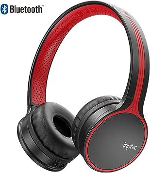 inphic Auriculares Bluetooth, reproducción Las 24 Horas, estéreo ...