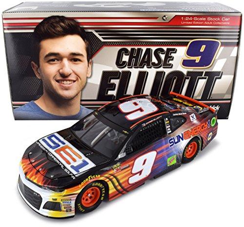 Lionel Racing CX91823SJCL Chase Elliott # 9 Sunenergy1 2018 Chevrolet Camaro ZL1 1:24 Scale Diecast Car, Multicolor