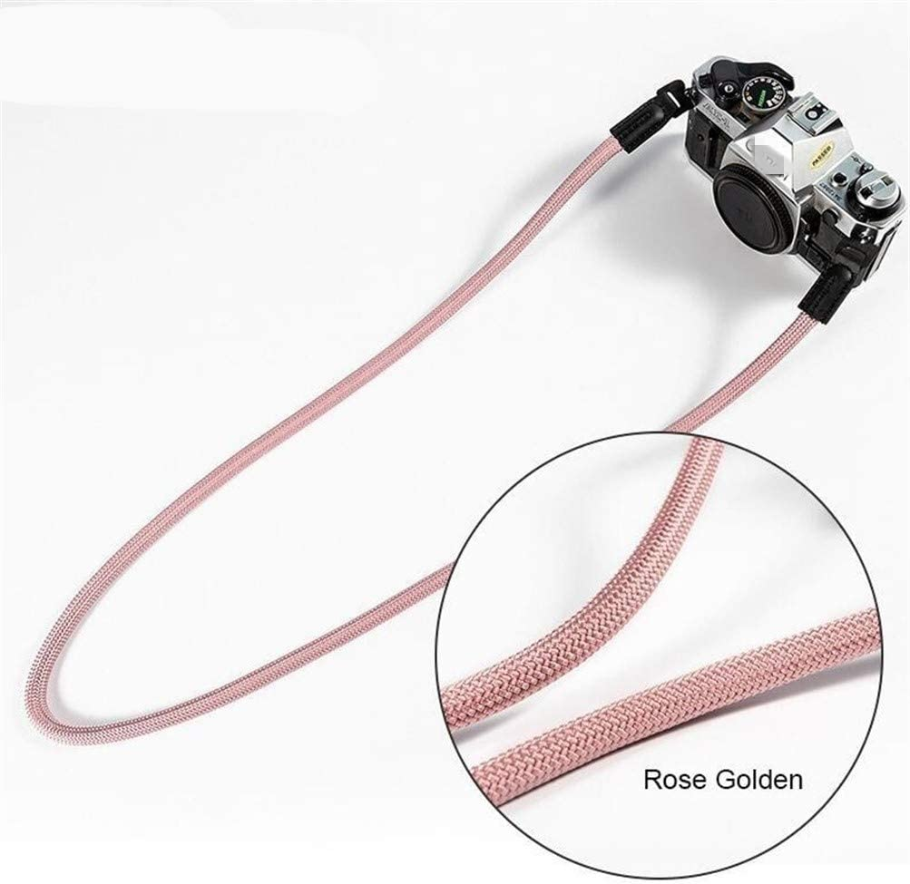 Camera Belt Accessory Mountaineering Nylon Rope Camera Shoulder Neck Strap Belt for Mirrorless Digital Camera Durable Color : Rose Golden