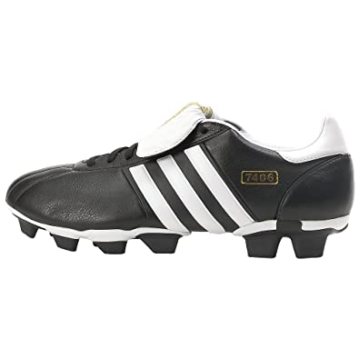 adidas Mens 7406 TRX FG Soccer Cleat,Black/White,6.5 M
