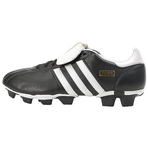 adidas Mens 7406 TRX FG Soccer Cleat,Black/White,6.5 M