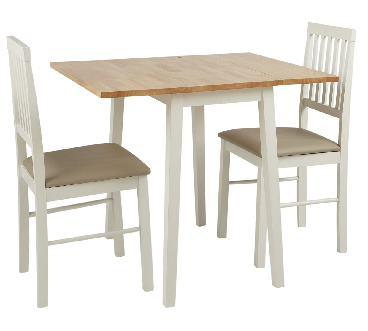 HOME Kendall Drop Leaf Table And 2 Dining Chairs   Two Tone: Amazon.co.uk:  Kitchen U0026 Home