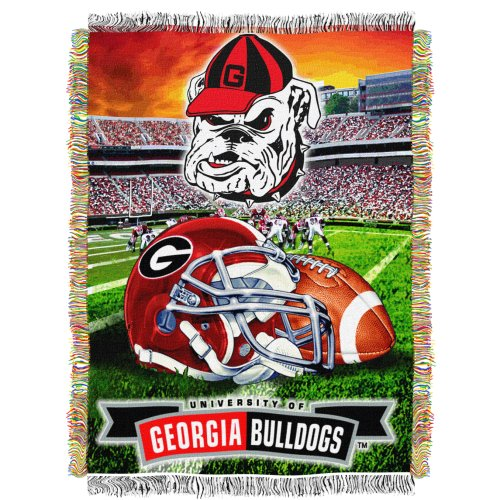 The Northwest Company Officially Licensed NCAA Georgia Bulldogs Home Field Advantage Woven Tapestry Throw Blanket, 48