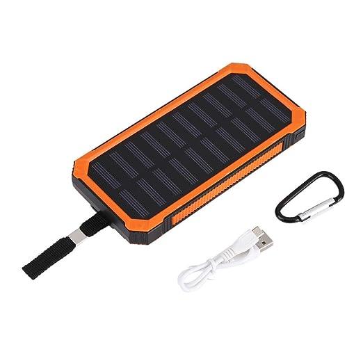 Fdit Cargador Externo Portátil de energía Solar 20000 mAh La ...