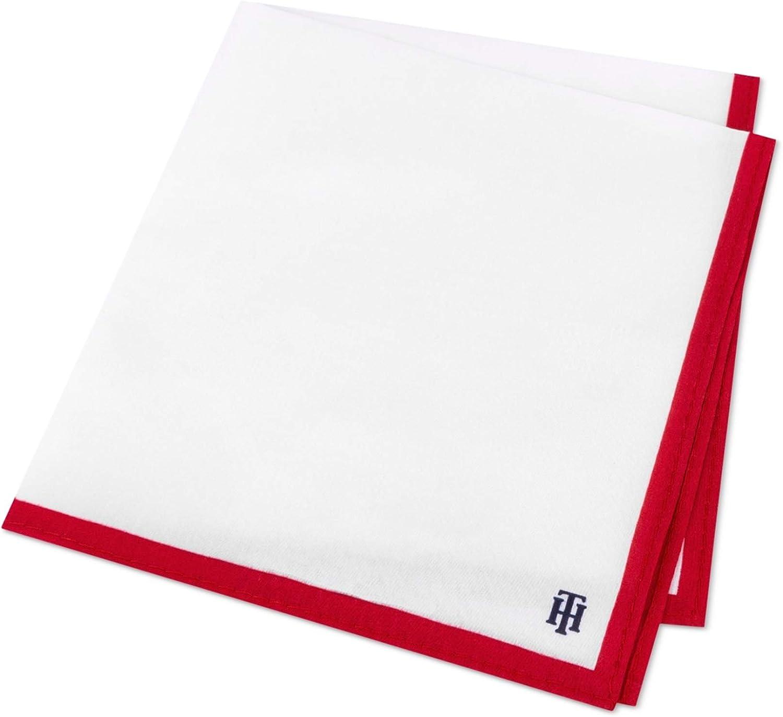 Tommy Hilfiger Mens Logo Pocket Square